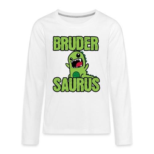 Brudersaurus Dinosaurier Kinder Baby Shirt - Teenager Premium Langarmshirt