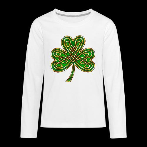 Celtic Knotwork Shamrock - Teenagers' Premium Longsleeve Shirt