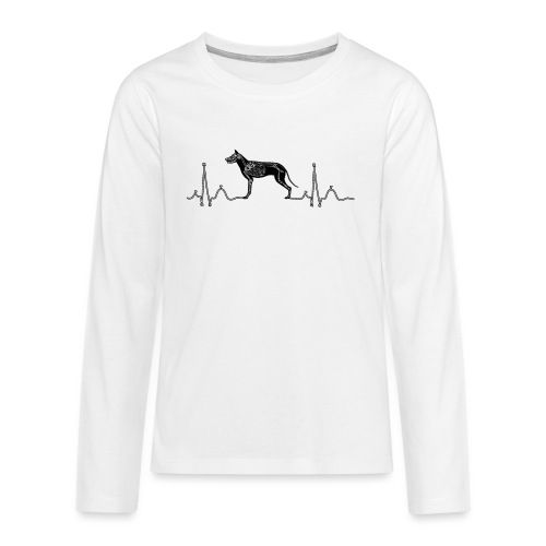 ECG met hond - Teenager Premium shirt met lange mouwen