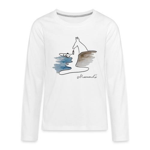 Blåvand 2 med logo - Teenager premium T-shirt med lange ærmer