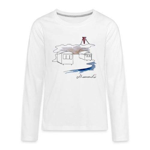 Blokhus 1 - logo - Teenager premium T-shirt med lange ærmer