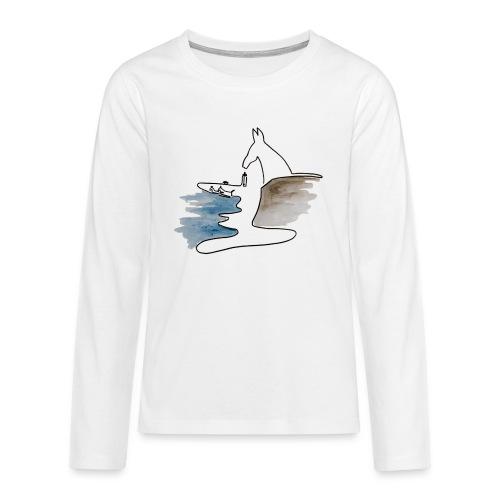 Blåvand 2 - Teenager premium T-shirt med lange ærmer