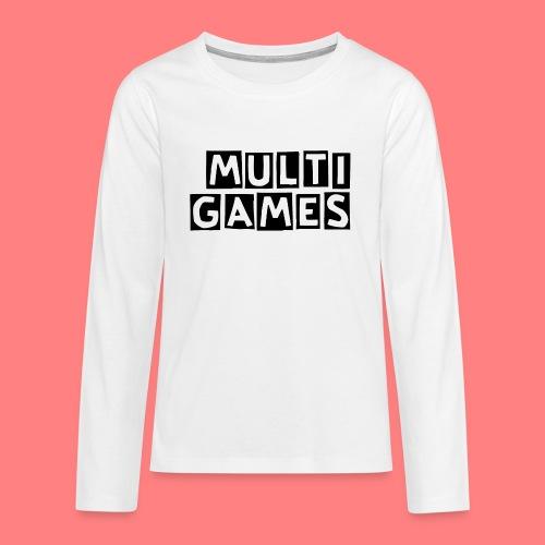 Multi Games Zwart - Teenager Premium shirt met lange mouwen