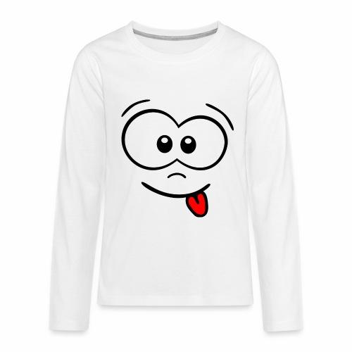 Gesicht Zunge rausstrecken - Teenager Premium Langarmshirt
