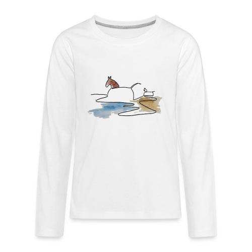Blåvand 3 - Teenager premium T-shirt med lange ærmer