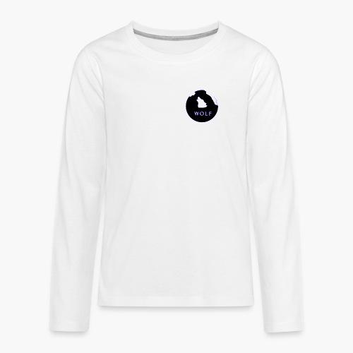 Wolf Mountain circle - Teenagers' Premium Longsleeve Shirt