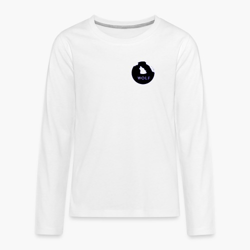 Wolf Mountain circle - Teenagers' Premium Longsleeve Shirt