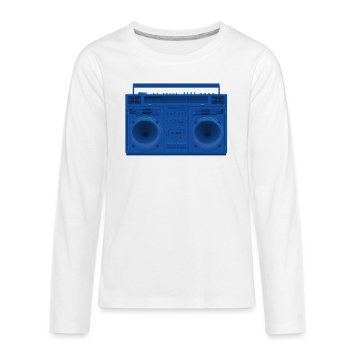 Bestes Stereo blau Design online - Teenager Premium Langarmshirt