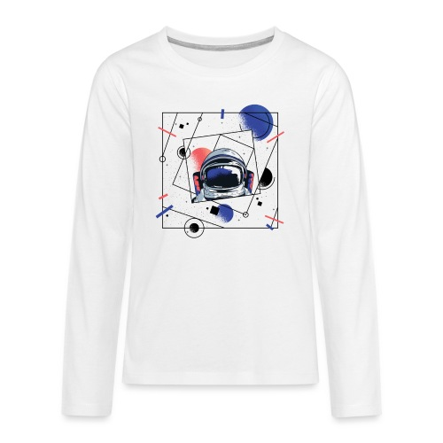 Beste Astronaut Weltraum Designs - Teenager Premium Langarmshirt