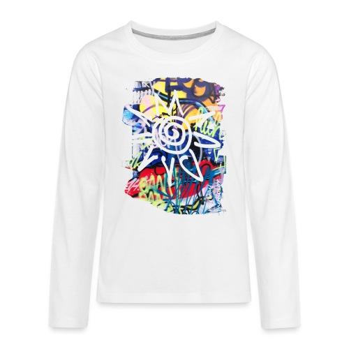 CityColors / Graffiti Sonne - Teenager Premium Langarmshirt
