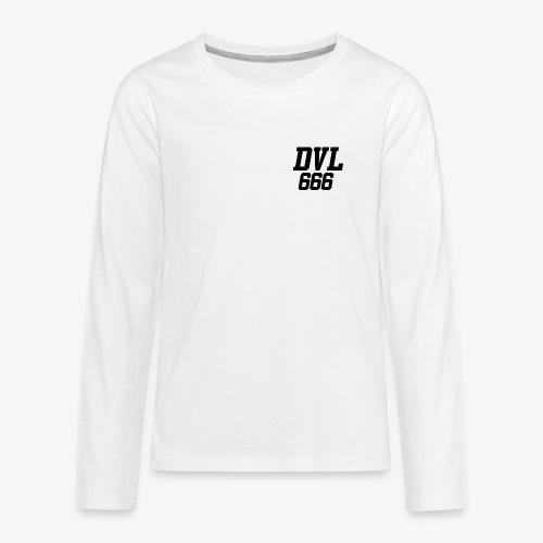 DVL666 - Camiseta de manga larga premium adolescente