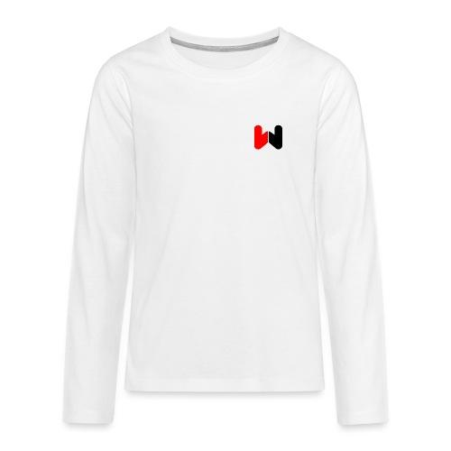 W (Black / Red Logo) - Teenagers' Premium Longsleeve Shirt