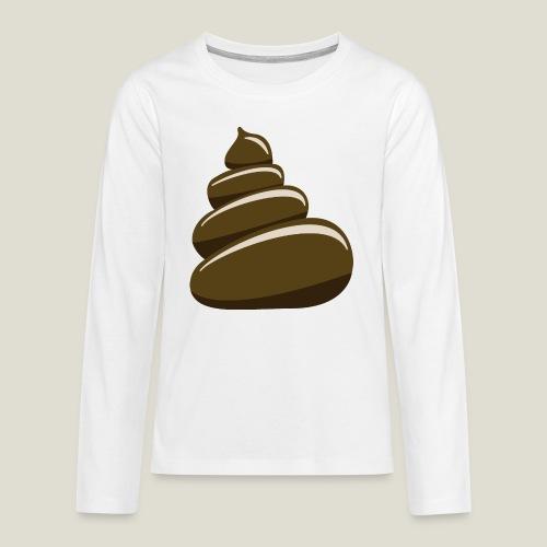 Bajskorv, Turd, Crap, Poop, Shit, Shite - Långärmad premium T-shirt tonåring