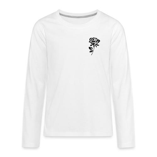 Black Rose - Teenagers' Premium Longsleeve Shirt