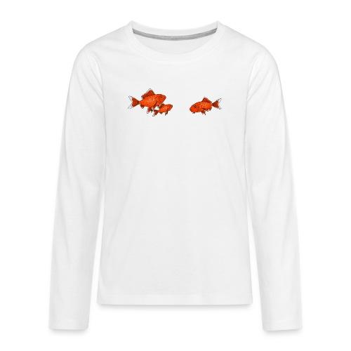 Poissons rouges - T-shirt manches longues Premium Ado