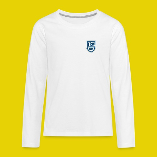 logo transparent blau - Teenager Premium Langarmshirt