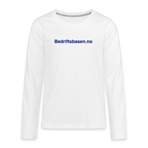 Bedriftsbasen.no logo - Premium langermet T-skjorte for tenåringer