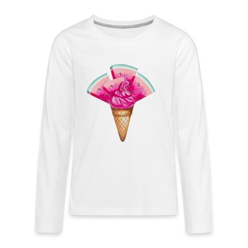 Eis Melone - Teenager Premium Langarmshirt