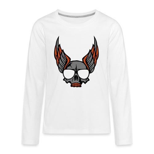 tete mort aile lunette skull aille 1206 - T-shirt manches longues Premium Ado