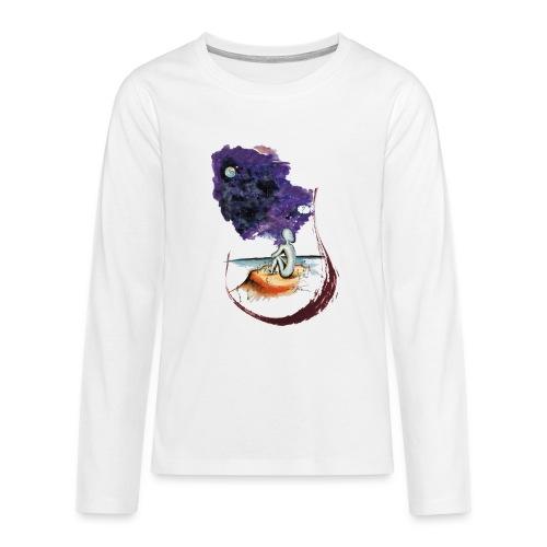 Extraterrestre en contemplation - T-shirt manches longues Premium Ado