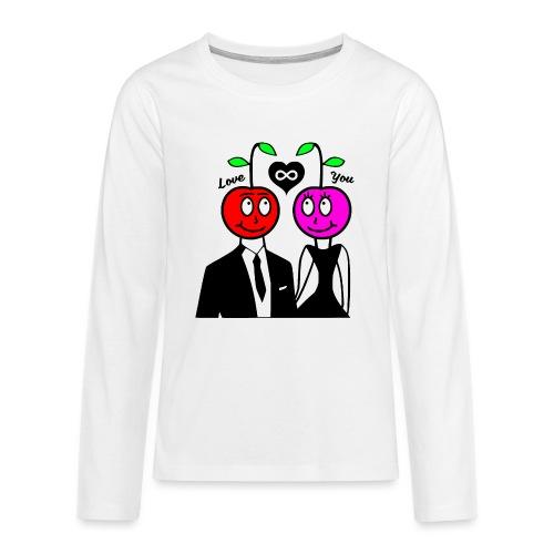 Happy Kirsche - Teenager Premium Langarmshirt