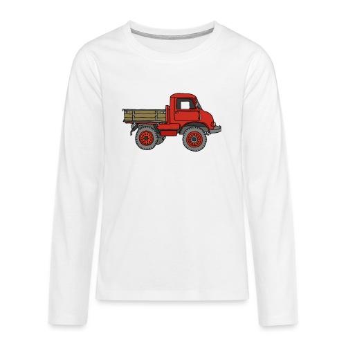 Roter Lastwagen, LKW, Laster - Teenager Premium Langarmshirt