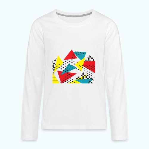 Abstract vintage collage - Teenagers' Premium Longsleeve Shirt