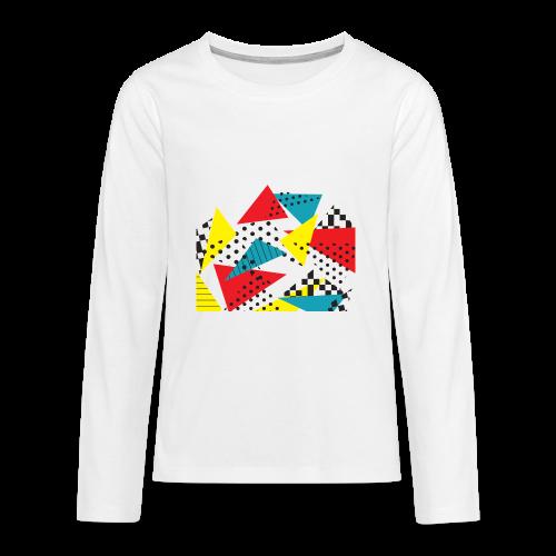 Abstract vintage collage - Teenagers' Premium Longsleeve Shirt