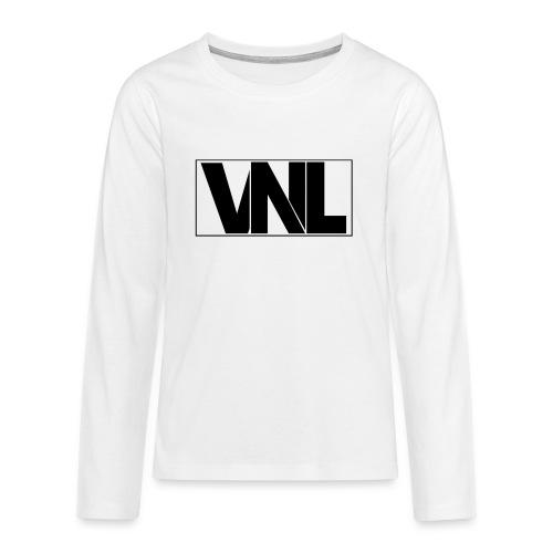 Venel Tshirt Schwarz png - Teenager Premium Langarmshirt