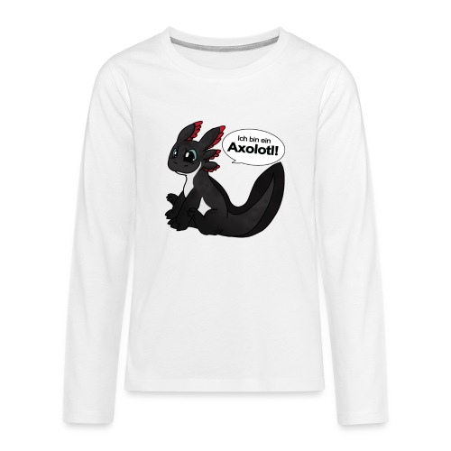 IchbinAxolotl png - Teenager Premium Langarmshirt