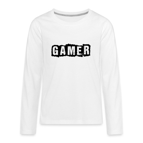 D 40 Gamer - Teenager Premium Langarmshirt