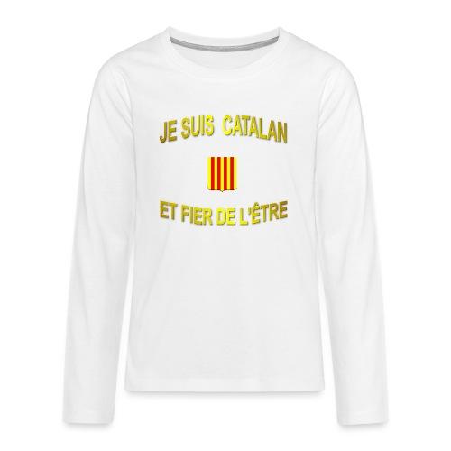 Dessous de verre à l'emblème du PAYS CATALAN - T-shirt manches longues Premium Ado