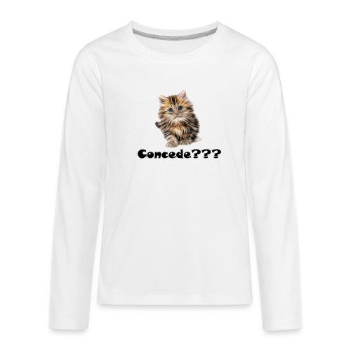 Concede kitty - Premium langermet T-skjorte for tenåringer