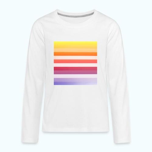 Rainbow Abstract Acrylic Painting - Teenagers' Premium Longsleeve Shirt