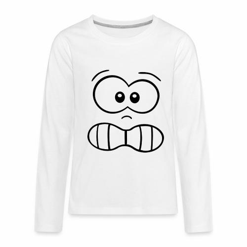 Gesicht - Teenager Premium Langarmshirt
