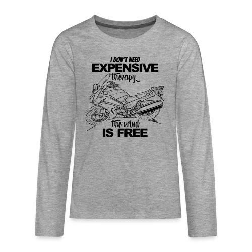 0881 FJR wind is free - Teenager Premium shirt met lange mouwen