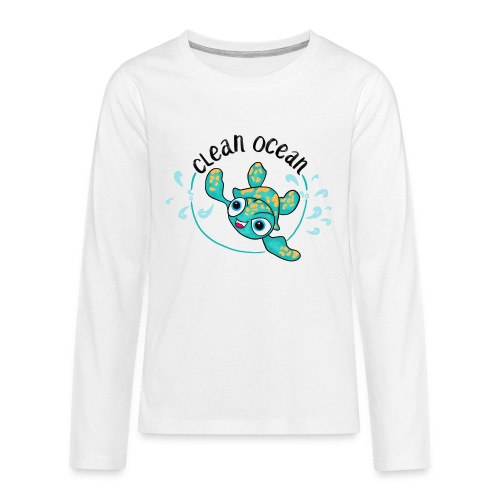 Clean Ocean - Teenagers' Premium Longsleeve Shirt
