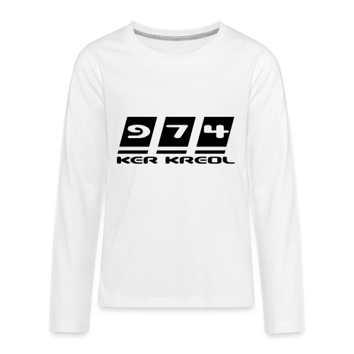 Ecriture 974 Ker Kreol - T-shirt manches longues Premium Ado