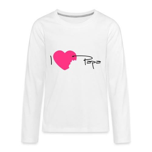I love Papa 13 Vecto - T-shirt manches longues Premium Ado
