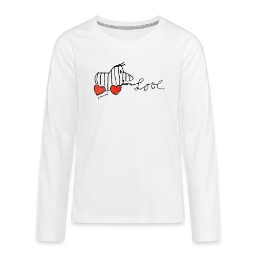 Janosch Tigerente Love Schriftzug - Teenager Premium Langarmshirt