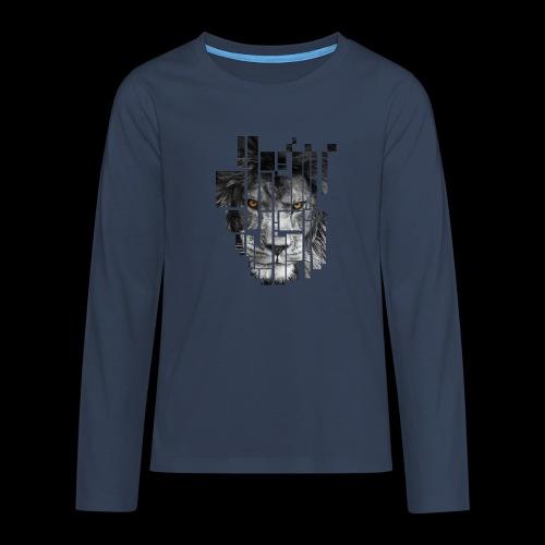 Pixel Lion Tattoo Inspire - Teenagers' Premium Longsleeve Shirt