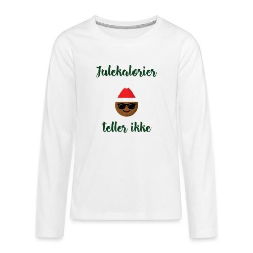 Morsomt julemotiv - Premium langermet T-skjorte for tenåringer