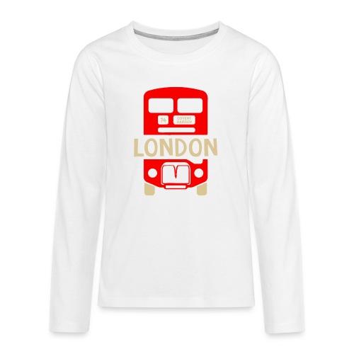 London Bus Roter Doppeldecker London Fan Souvenir - Teenager Premium Langarmshirt