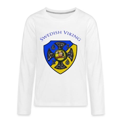 clanshildcw png - Långärmad premium T-shirt tonåring