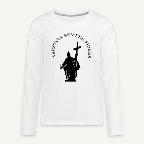 varsoviasf - Koszulka Premium z długim rękawem dla nastolatków