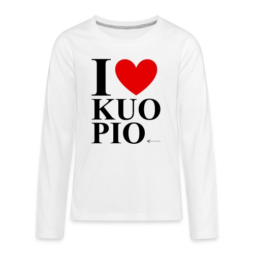 I LOVE KUOPIO ORIGINAL (musta) - Teinien premium pitkähihainen t-paita