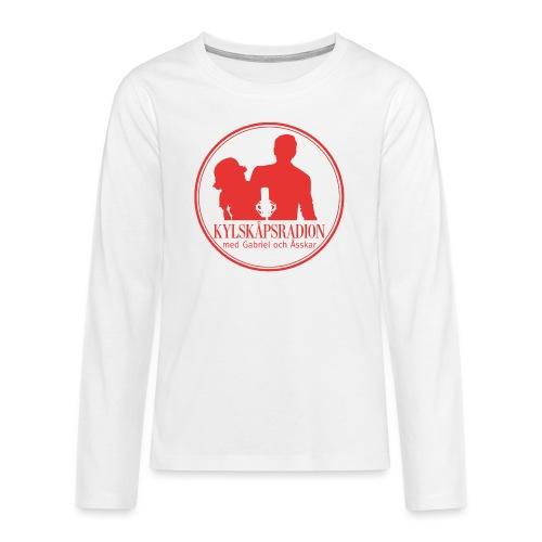 Logga helröd - Långärmad premium T-shirt tonåring