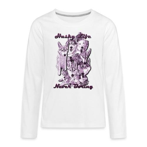PPSartpink png - Teenager premium T-shirt med lange ærmer