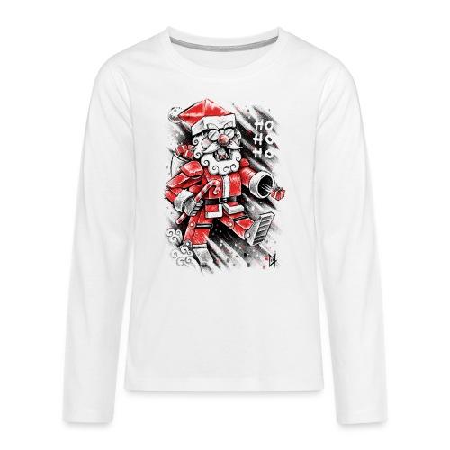Robot Santa Claus - Teenagers' Premium Longsleeve Shirt