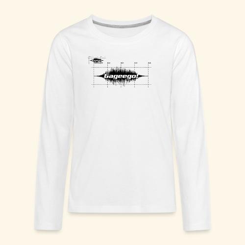 Gageego logga vit text - Långärmad premium T-shirt tonåring